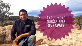 Taking a break from exploring the mountains of New Mexico, i take a break to announce our ten thousand subs giveaway. to enter the contest, write a comment on a summary of your outdoor adventures, for example: how long have you been practicing bushcraft or camping, what was your favorite experience, etc. 3rd place will win a junkyard fox bandana and cuervo negro album 'Dust & Bone.'2nd place: junkyard fox bandana, cuervo negro album, and Braty survival pack.1st place: junkyard fox bandana, cuervo negro album and Bark River  JX6.My review on the Bark River JX6:https://youtu.be/rMcTXWn6r5sBraty Survival: https://www.etsy.com/shop/BratySurvivalGear?ref=l2-shopheader-nameJunkyard Fox Instagram:https://www.instagram.com/junkyard_fox/?hl=enCuervo Negro's Bandcamp link:https://cuervonegro1.bandcamp.com/album/the-first-year   filmed in the El Paso, Texas/Cloudcroft, New Mexico area, Chihuahuan Desert. Survival, Self-Reliance, Bushcraft, Camping, Making Fire, James Harris. Original music by Cuervo Negro. Junkyard Fox