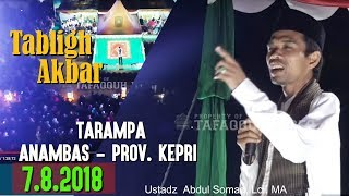 Video FULL - Tabligh Akbar di Tarampa Kepulauan Anambas || Ustadz Abdul Somad, Lc. MA MP3, 3GP, MP4, WEBM, AVI, FLV Agustus 2018