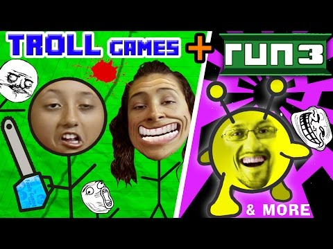 TROLLFACE QUEST + RUN 3 w/ FGTEEV Family! (Weird Riddles & Pranks & Vlog Gameplay) (видео)
