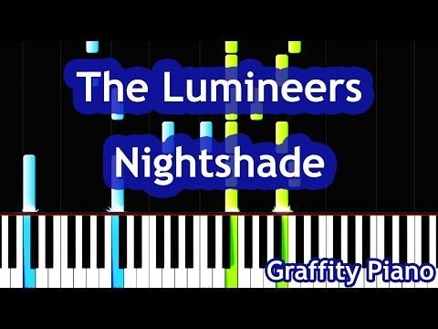 The Lumineers - Nightshade (For The Throne) Game Of Thrones OST Piano Tutorial