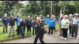 """This clip is a good example of why I'm so thankful there is a world of firsts still out there for me...like falconry. One of the top experiences so far on our Best of Ireland in 14 Days Tour was today's visit to Ireland's School of Falconry, where a great guide took our tour group on a """"Hawk Walk."""" For about an hour, we wandered through the enchanting grounds of Ashford Castle (just outside of Cong, north of Galway). Our hawk enjoyed 50 nibbles, as each person in our group got two tosses and two catches. With each toss, the glove was rotated to the next tour member, our guide tucked a little chicken meat in the padded palm, and the hawk knew just where to return. These are the kind of experiences and memories we organize many times every day on Rick Steves' Europe Tours. That's why most people in our group are return travelers...many of them on their fourth or fifth Rick Steves tour. And we leave a lot of very fat hawks in our wake.(This is Day 73 of my """"100 Days in Europe"""" series. As I travel with Rick Steves' Europe Tours, research my guidebooks, and make new TV shows, I'm reporting on my experiences across Europe. Still to come: England, Scotland, Germany, Switzerland, and more. Follow along at http://www.ricksteves.com/blog.)"""