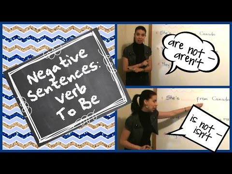 Negative Sentences - To Be