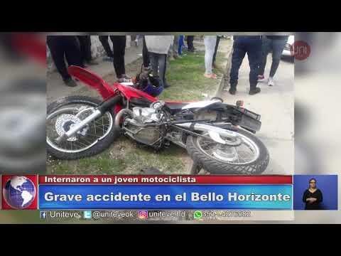 Accidente con gravísimas lesiones para un motociclista