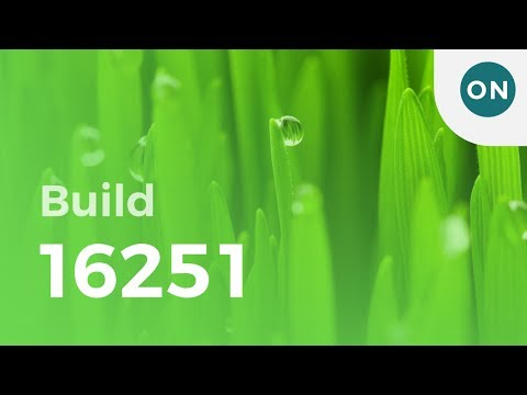 Hands on with Windows 10 build 16251, featuring \