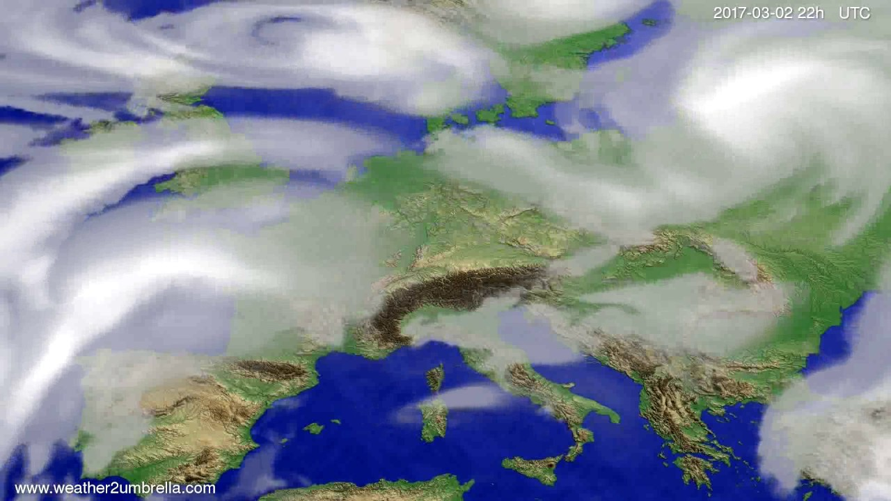 Cloud forecast Europe 2017-02-28