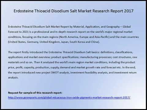 Erdosteine Thioacid Disodium Salt Market Research Report 2017