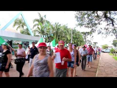 Caminhada mobilização contra a reforma da previdência em Viadutos RS