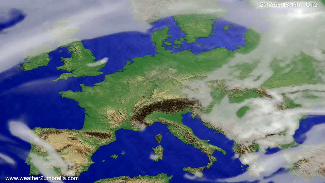 Cloud forecast Europe 2017-06-15