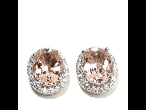 Rarities Pink Morganite and Gemstone Stud Earrings