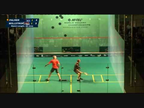 Squash – David Palmer vs James Willstrop World Open 2008