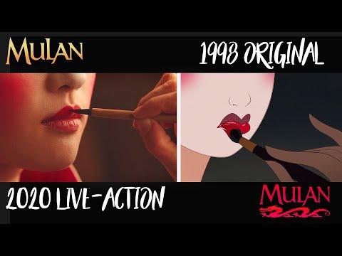 Mulan 1998 vs  Mulan 2020 Comparison