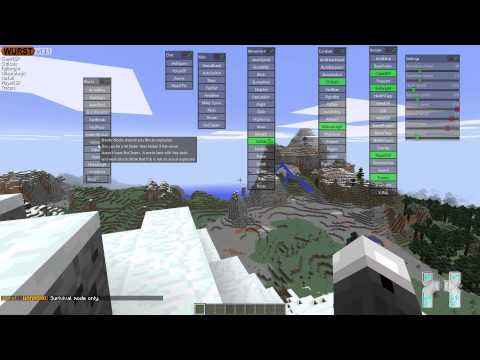 Minecraft : 1.8 .x Hacked Client – Wurst – The Amazing Sausage ! [HD]