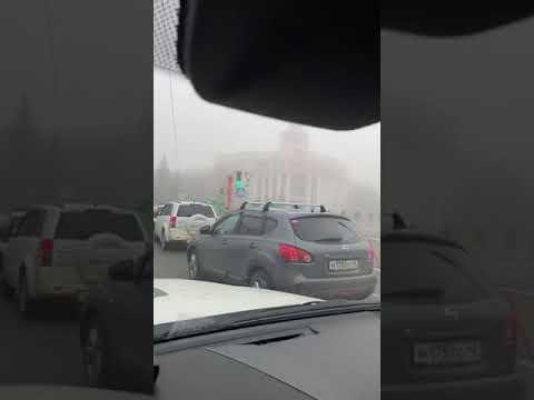 Утро в Кемерово после Дня Шахтера