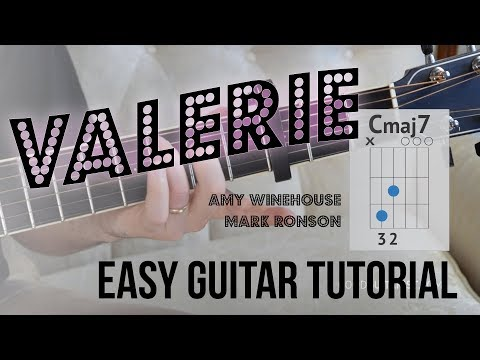 Valerie Guitar Lesson Amy Winehouse Easy And Advanced Guitar Tutorial