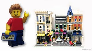 A complete unboxing and review of Assembly Square by Lego Creator (10255). This massive set contains 4002 pieces which includes eight minifigures and one baby minifigure. The Square contains a flower shop,  bakery, cafe, music store , photo studio, dental office,  dance studio, and a small studio apartment. At the time of this review, Assembly Square retailed for $279.99.Content in this video is considered as family-friendly. Be respectful to others. All inappropriate comments will not be tolerated will be removed.JAYSTEPHER am not affiliated with Lego nor the Lego Group.Check out my official fan pages:SECOND CHANNEL: https://www.youtube.com/JLNRawFACEBOOK: https://www.facebook.com/jaystepherTWITTER: https://twitter.com/jaystepherINSTAGRAM: http://instagram.com/jaystepherJAYSTEPHER: http://www.jaystepher.com/GOOGLE+: https://plus.google.com/+jaystepher/postsYOUNOW: https://www.younow.com/JAYSTEPHER
