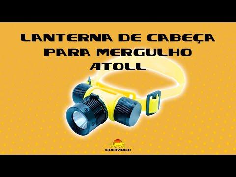Vídeo - Lanterna de Cabeça Guepardo Atoll para Mergulho