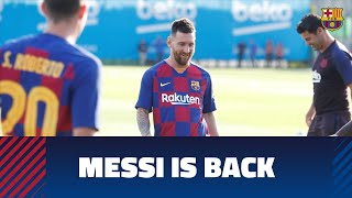 Video Leo Messi is back in training with the squad MP3, 3GP, MP4, WEBM, AVI, FLV Agustus 2019