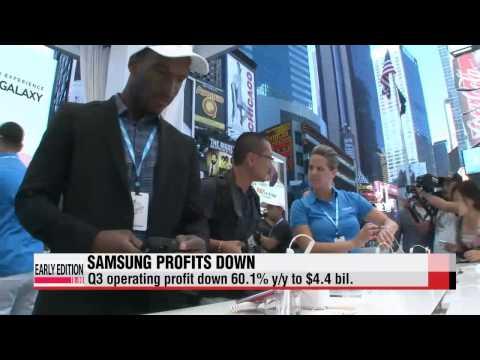 Samsung Electronics Q3 profit drops   삼성전자 3분기 실적 떨어져, 모바일산업부문
