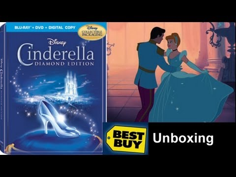 Cinderella Blu-ray Best Buy Exclusive MetalPack/Steelbook Pre-Order Unboxing - (1950)