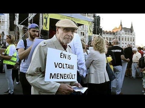 «Δες τον άνθρωπο»: Συλλαλητήριο υπέρ των προσφύγων στη Βουδαπέστη