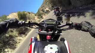 3. Ducati Hypermotard SP chasing KTM SuperDuke 1290 R on Angeles Crest Hwy