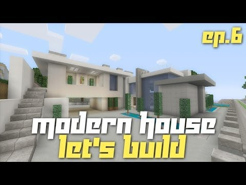 Minecraft Xbox 360: Let's Build a Modern House! (City Texture Pack - Ep.6)
