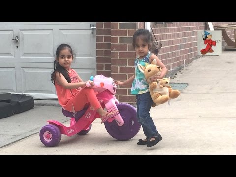 Fisher-Price Lights and Sounds Barbie Tricycle Going Down The Hill