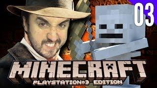 MATADOR DE ESQUELETO! (e de passarinho) - Minecraft para Playstation 3 (PS3) #03