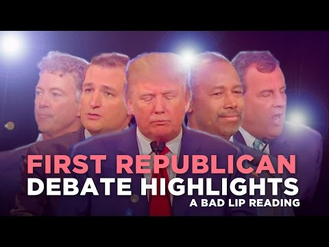 A Bad Lip Reading of The Republican Debate