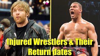 Video 10 INJURED WWE Wrestlers And Their Expected RETURN Dates! - Dean Ambrose, Jason Jordan & More! MP3, 3GP, MP4, WEBM, AVI, FLV Juli 2018