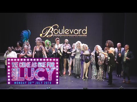We come as one for Miss Lucy live from Boulevard Newcastle