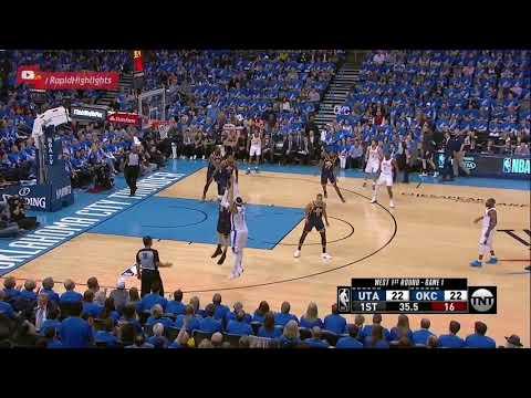 Utah Jazz vs OKC Thunder 1st Half Highlights | Game 1 | April 15, 2018 | NBA Playoffs