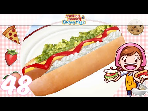 [Let's Play] Cooking Mama 4 Kitchen Magic - EP48: Hotdog ( ゚∀ ゚)