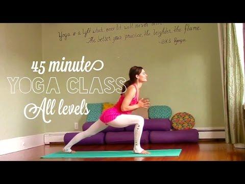 45 Minute Intermediate+ Vinyasa Yoga Practice - Get Spacious, Get Joyous