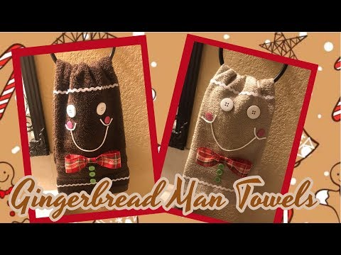 DIY Decorative Holiday Gingerbread Man Towels