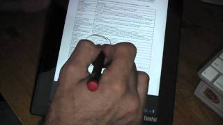 Lenovo ThinkPad Tablet Using PDF
