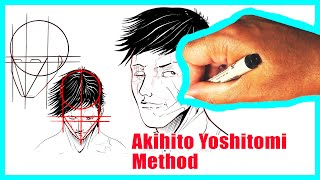 HOW TO DRAW THE FACE FROM ANY ANGLE | Akihito Yoshitomi | Art Tutorial Easy | Anime Drawing Tutorial