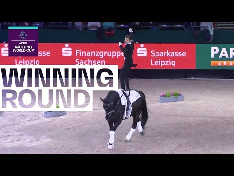Jannik Heiland's Artistic Performance | FEI Vaulting World Cup™ Leipzig