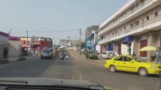 Cruising the city, Monrovia.