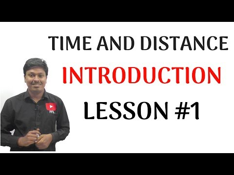 Time And Distance _lesson #1(introduction)