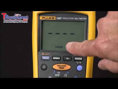 How To Measure Insulation Resistance With A 1587