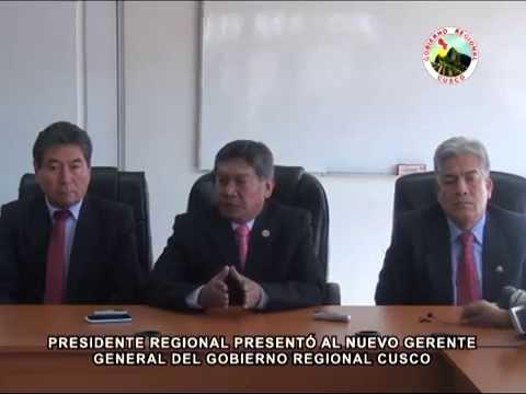 PRESIDENTE REGIONAL PRESENT� AL NUEVO GERENTE GENERAL DEL GOBIERNO REGIONAL CUSCO