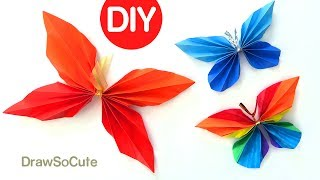 Follow along to learn how to make these paper butterflies step by step easy. These pretty origami butterflies can be made from things you already have at home. Recycle paper and some string and that's it. Fun DIY paper craft project. Room decor idea.Thanks for watching!! Please LIKE, COMMENT, and SHARE. =) Thank You!!!★Learn How to Draw the EASY, Step by Step Way while having fun and building skills and confidence. Learning videos for children of all ages.★Drawing Tutorials on everything from Celebrities (Ariana Grande, Taylor Swift, Meghan Trainor, Demi Lovato, etc), Cartoon Food and Drinks (Hot Dog, Starbucks, etc), Desserts (Ice Cream, Cupcake, Marshmallow, etc), Fruit, Cartoon Animals (Penguin, Fox, Panda, etc), Characters from 3D movies (Minions, Frozen, Finding Dory, Zootopia, etc) , Games (Minecraft, Angry Bird, etc), TV shows (Descendants, Disney, Cartoon Network characters, etc.) , Toys (Shopkins, NumNoms, etc) and Everyday Objects (school supplies, etc) can all be found here at Draw So Cute! ★You can learn how to color with markers, color pencils and much more. Coloring pages. ★FUN ART CHALLENGES, DIY's and Coloring Pages and Activities can also be found here!★Easy, simple follow along drawing lessons for kids or beginners. Fun, Cute art for kids! ★Celebrate Mother's Day, Father's Day, Christmas, Valentines, New Years, Birthdays, etc. with Cute drawings just for the occasion!Enjoy Art and have fun being creative and becoming an artist! ❤❤SUBSCRIBE: http://www.youtube.com/channel/UC3dEvA1is6-0_yuei9iCdEw?sub_confirmation=1-Website: Download FREE coloring pages and crafts: http://www.drawsocute.com -Facebook: http://www.facebook.com/drawsoocute-Instagram: https://instagram.com/drawsocutebywennie/Have a GREAT day and see YOU later! :)