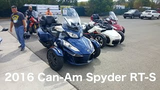 10. 2016 Can-Am Spyder RT-S *First Impressions*