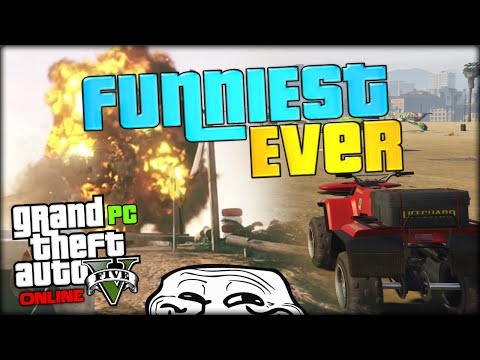 THIS VIDEO WILL MAKE YOU LAUGH 100% GUARANTEED (GTA 5 PC Funny Moments #1 / Gameplay)