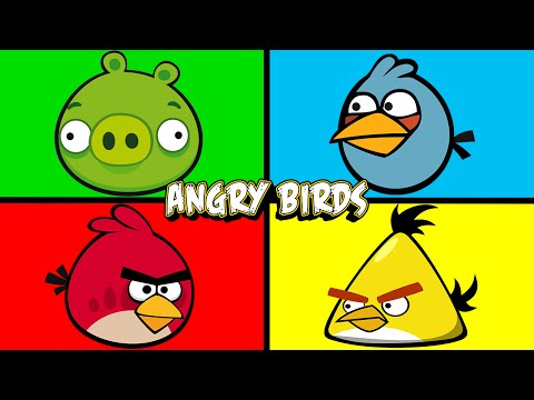 Angry Birds | Matching & Learning Colors