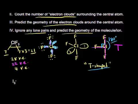 Vsepr for 5 electron clouds continued video khan academy ccuart Image collections
