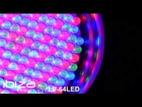 projecteur LP64 LED PAR64 de 177 LEDs avec DMX IBIZA