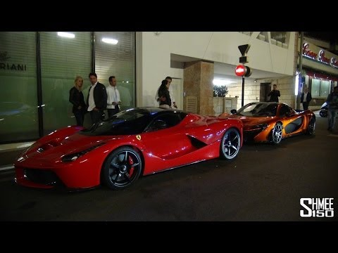laferrari and mclaren p1 - comparison parked together