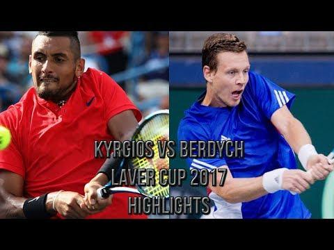 Nick Kyrgios Vs Tomas Berdych - Laver Cup 2017 (Highlights HD) (видео)